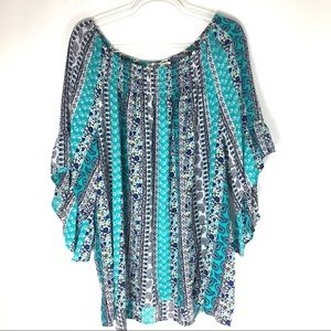 Terra Sky Blouse Pull Over Plus Size 2X